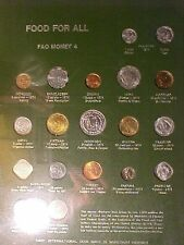 FAO Food for All Coin Board Set Number 4- 19 Coins 1973 to 1974
