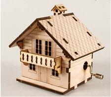 Swiss Chalet Music Box / Orgel / WOODEN MODEL KIT