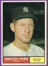 Whitey Ford -  1961 Topps #160 UER/Incorrectly listed/as 5'0 tall - Yankees