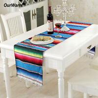 Mexican Table Runner Tablecloth Rug Saltillo Blanket Home Wedding Party Decor