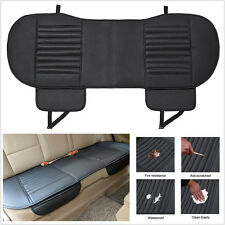 Comfortable Leather Bamboo Charcoal Vehicles Rear Seat Cover Chair Cushion Black