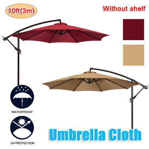 10ft 8 Ribs Patio Umbrella Replacement Canopy Top Cover Waterproof Fabric Cloth