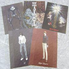 DEATH NOTE Lot of 5 Postcard Set Art Illustration Japan Book Nintendo DS Ltd