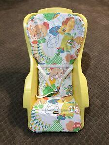 1960's Vintage infant baby plastic Pumkin carrier seat