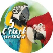 New listing Single Round Absorbent Stone Car Coaster-Parrots-by Carson Home Accents