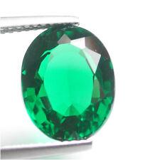 Nice!5.50ct Dazzling Lab Created Chrome Green Nano Biron Emerald Oval Cut Gem