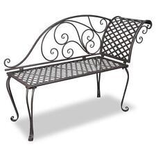 Antique Design Outdoor Garden Decor Metal Lounge Chaise Chair Bench Seat