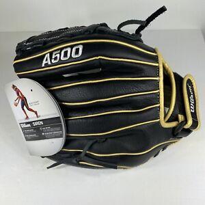 """Wilson Siren 12"""" A500 Fastpitch Softball Glove A05RF2012 Right Hand Thrower NEW"""