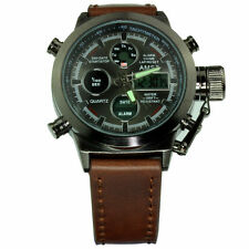 45mm Multi Function Military Steel Army Boat Quartz LCD Watch Sub Sport U TW