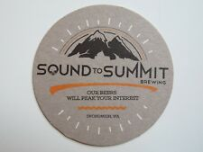 Beer Coaster ~ SOUND TO SUMMIT Brewing Co ~ Snohomish, WASHINGTON; Peak Interest