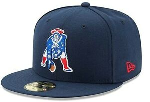 New England Patriots New Era Throwback Logo 59FIFTY Fitted Hat - Navy