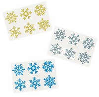 Snowflake Christmas Temporary Tattoos Frozen Party Bag Fillers Pack Sizes 6 - 36