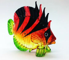 Sea Fish Crest Hand Blown Blowing Glass Art Animal Fancy Collectibles Gift V.6