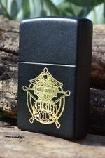Zippo Lighter - Harley Davidson - Sheriff - Matte Black - Bar & Shield - # 20828