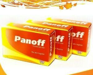 3X PANOFF Sulfur/Sulphur Bar Soap. Face and Body Acne Treatment