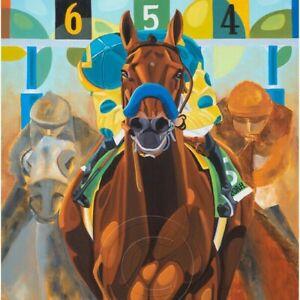 American Pharoah Commemorative Art Print Horse of the Year Artist SFASTUDIO