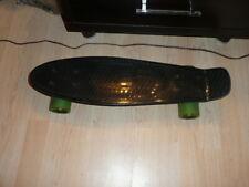 "Ridge Skateboard 22"" Mini Cruiser Black/Neon Vg Condition"
