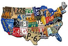 USA License Plate Plasma Cut Metal Sign