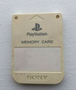Sony PlayStation OEM Official 1 PS1 PSX Memory Card SCPH-1020 - WHITE - TESTED!
