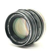 【AS-IS】Minolta MC ROKKOR PF 55mm f/1.7 MF Lens MD MC Mount From Japan #428