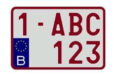 Plaque immatriculation format moto