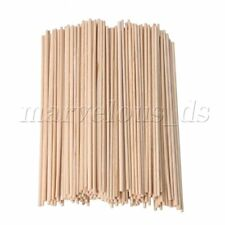 200pcs 2.2mm Dia Wooden Round Lolly Craft Sticks 148mm for Food /& Woodworking