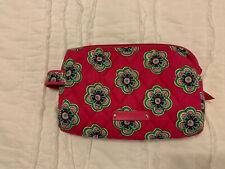 Vera Bradley Pink Swirls Flower Small Cosmetic Bag