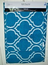 New Mainstays 2 Pc Plush Microfiber Bath Rug Set Teal