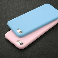 Shockproof Thin Soft TPU Silicone Matte Back Case Cover for iPhone X 8 5 6s Plus