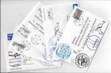 AE-47) 5 Briefe Polar Antarktis Expedition, mit Unterschriften der Teilnehmer