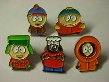 South Park pin badge. 5 assorted lapel badges. Cartman Kenny Chef Kyle Stan.