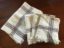 Lucienne Hebert Vintage Linen Napkins Towels Table Runner Textiles Beige Quebec