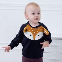 Toddler Kids Baby Boys Long Sleeve Cartoon Print T Shirt Casual Tops Clothes NEW