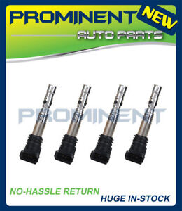 UF411  of 4 Ignition Coil Replacement for AUDI TT A4 Quattro VW 2001-2006