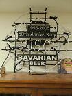 """BUSCH BAVARIAN BEER 2005 50TH ANNIVERSAY NEON 36"""" X 33.5"""""""