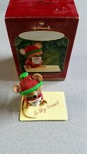 Handled With Care Hallmark Keepsake Ornament 1999 Mouse w/Stamp & Card