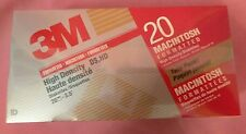 """3M Macintosh High Density DS HD  3.5"""" Diskettes (20 Pack) Formatted  SEALED Flop"""