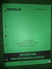CATERPILLAR MARINE GENERATOR SET ENGINE PERFORMANCE MANUAL 3500 3508 > 3516 1989