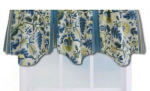 Waverly Imperial Dress Porcelain Valances Lot of 3 Yellow Blue Pleat Lined