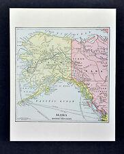 1890 Mathew Northrup 2 Maps - Alaska & Klondike Gold Region Yukon Dawson Canada