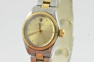 Rolex Oyster Perpetual Lady Women's Watch 26MM Steel/Gold 6804 Vintage RAR