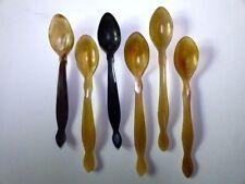 6 Löffel aus Horn für Suppe, Yoghurt oder Müsli, hergestellt in Indien