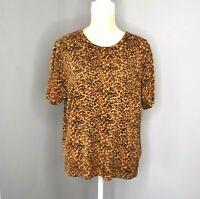 Sag Harbor Womens Sweater Top Animal Print Size X-Large