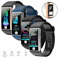 Bluetooth Smartwatch PPG ECG Pulsmesser Armband Sport Aktivität Fitness Tracker