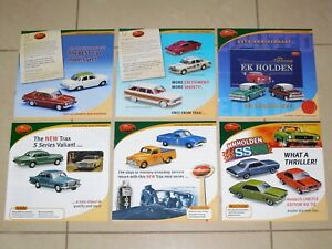 TRAX Catalogue 2001 Complete Set of 6 Model Car Brochures - Holden Ford Chrysler