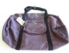 Annette Ferber Sacs Collection Duffster Bag Purple Canvas NWT