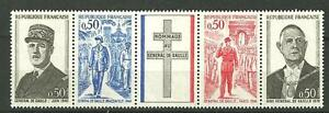 1971 Bande De Gaulle 1698A cote 3€  ★★ neufs sans ch.