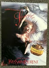 Vintage 1995 Tatler Not Vogue Magazine Advert Ad Yves Saint Laurent Champagne