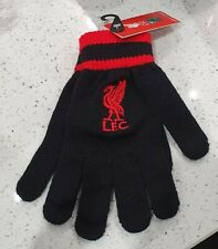 Official Liverpool Kids Gloves - Black and Red - Great Xmas Gift Idea