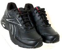 256c3f1397e664 Reebok J83970 DMX Max Mania Black Leather Lace Up Walking Sneaker Women s  US 5.5